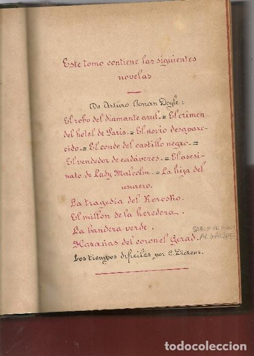 Libros antiguos: CONAN DOYLE,Arthur ,11 obras de Sherlock Holmes, .... - Foto 3 - 126346383