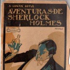 Libros antiguos: CONAN DOYLE - SHERLOCK HOLMES - POLICÍA FINA (PROMETEO, S.F.). Lote 128434231