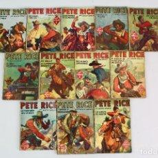 Libros antiguos: L-4925. PETE RICE , POR AUSTIN GRIDLEY. LOTE DE 12 REVISTAS COLEC. HOMBRES AUDACES .MOLINO, AÑOS 40. Lote 128452979