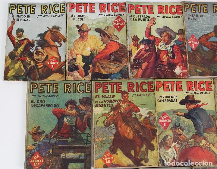 Libros antiguos: RV-172. PETE RICE , POR AUSTIN GRIDLEY. LOTE DE 12 REVISTAS COLEC. HOMBRES AUDACES .MOLINO, AÑOS 40 - Foto 2 - 128452979