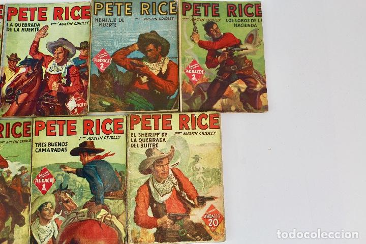 Libros antiguos: RV-172. PETE RICE , POR AUSTIN GRIDLEY. LOTE DE 12 REVISTAS COLEC. HOMBRES AUDACES .MOLINO, AÑOS 40 - Foto 3 - 128452979