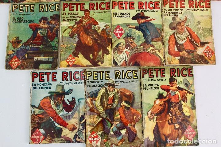 Libros antiguos: RV-172. PETE RICE , POR AUSTIN GRIDLEY. LOTE DE 12 REVISTAS COLEC. HOMBRES AUDACES .MOLINO, AÑOS 40 - Foto 4 - 128452979