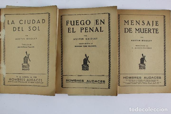 Libros antiguos: RV-172. PETE RICE , POR AUSTIN GRIDLEY. LOTE DE 12 REVISTAS COLEC. HOMBRES AUDACES .MOLINO, AÑOS 40 - Foto 6 - 128452979