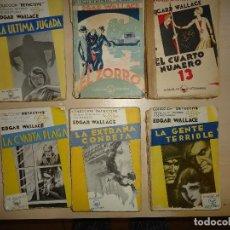Libros antiguos: EDGAR WALLACE - 45 NOVELAS, MUCHAS EN 1ª EDICIÓN. Lote 129395495