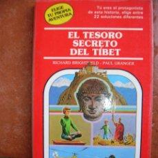 Libros antiguos: ELIGE TU PROPIA AVENTURA Nº 36: EL TESORO SECRETO DEL TIBET: RICHARD BRIGHTFELD - PAUL GRANGER. Lote 131170596