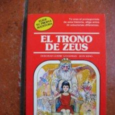 Libros antiguos: ELIGE TU PROPIA AVENTURA Nº 29: EL TRONO DE ZEUS; DEBORAH LERME GOODMAN - RON WING. Lote 131170716