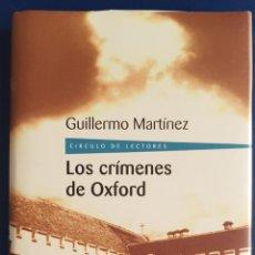Libros antiguos: LOS CRÍMENES DE OXFORD GUILLERMO MARTINEZ. Lote 133527394