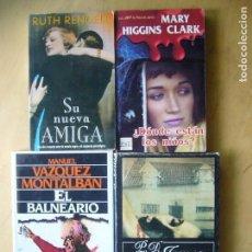 Libros antiguos: LOTE 4 NOVELAS POLICIACAS; RUTH RENDELL, M.HIGGINS CLARK. M. VAZQUEZ MONTALBAN, P.D. JAMES. Lote 136176846