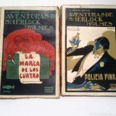 Libros antiguos: AVENTURAS DE SHERLOCK HOLMES. LA MARCA DE LOS CUATRO. POLICÍA FINA. PENAGOS. EDITORIAL PROMETEO.. Lote 136464984