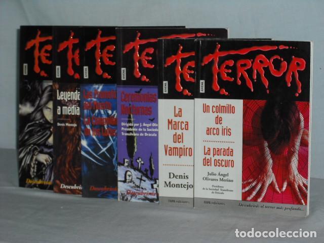 LOTE DE 6 NOVELAS JUVENILES DE TERROR (Libros antiguos (hasta 1936), raros y curiosos - Literatura - Terror, Misterio y Policíaco)
