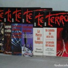 Libros antiguos: LOTE DE 6 NOVELAS JUVENILES DE TERROR. Lote 137846562
