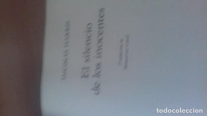 Libros antiguos: Libro el silencio de los Inocentes - Foto 3 - 138044682