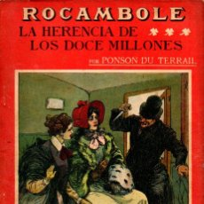Alte Bücher - PONSON DU TERRAIL : LA HERENCIA DE LOS DOCE MILLONES (LA NOVELA ILUSTRADA, S.F.) - 138600862