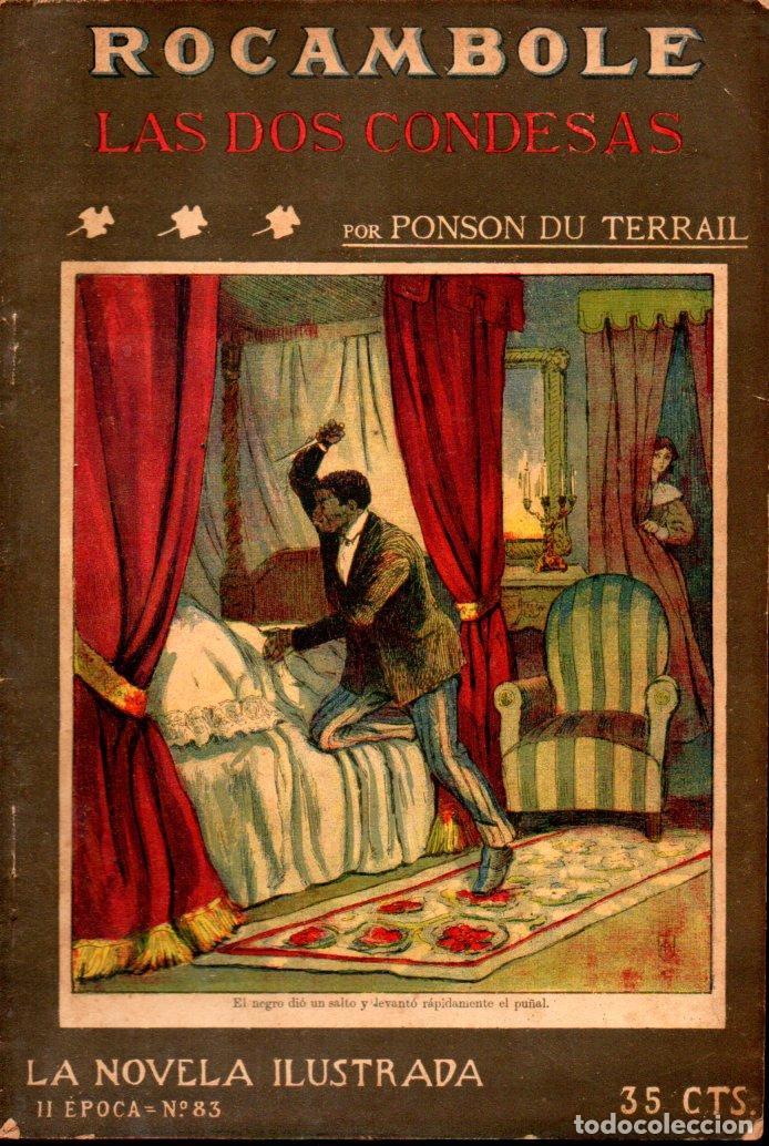 PONSON DU TERRAIL : LAS DOS CONDESAS (LA NOVELA ILUSTRADA, S.F.) (Libros antiguos (hasta 1936), raros y curiosos - Literatura - Terror, Misterio y Policíaco)