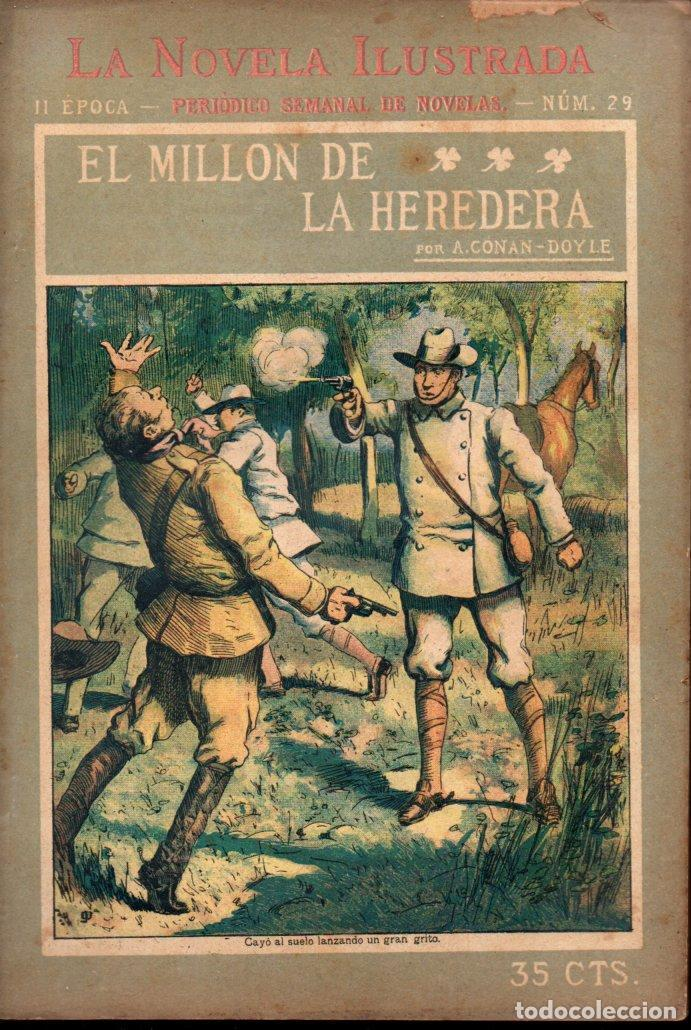 CONAN DOYLE : EL MILLÓN DE LA HEREDERA (LA NOVELA ILUSTRADA, S.F.) (Libros antiguos (hasta 1936), raros y curiosos - Literatura - Terror, Misterio y Policíaco)