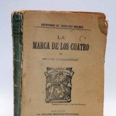 Libros antiguos: AVENTURAS DE SHERLOCK HOLMES. LA MARCA DE LOS CUATRO (ARTURO CONAN DOYLE) ESPAÑOLA AMERICANA, 1907. Lote 139867148