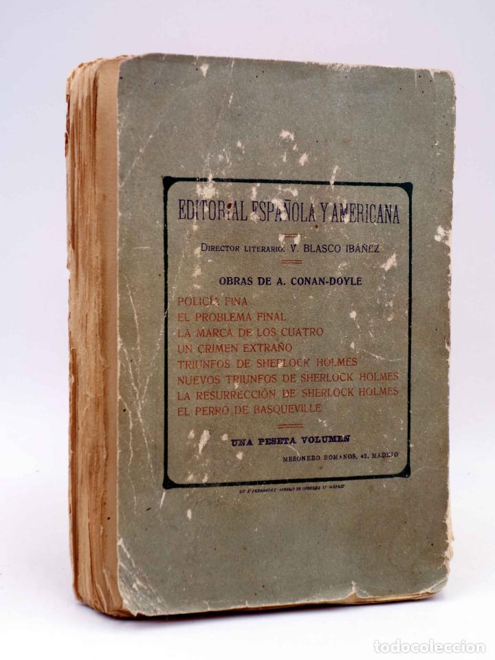 Libros antiguos: AVENTURAS DE SHERLOCK HOLMES. LA MARCA DE LOS CUATRO (Arturo Conan Doyle) Española Americana, 1907 - Foto 2 - 139867148
