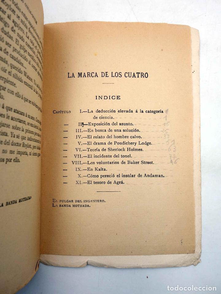 Libros antiguos: AVENTURAS DE SHERLOCK HOLMES. LA MARCA DE LOS CUATRO (Arturo Conan Doyle) Española Americana, 1907 - Foto 4 - 139867148