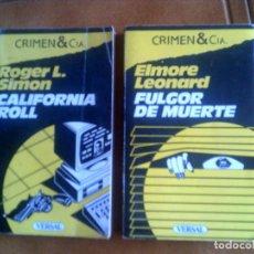 Libros antiguos: LOTE DE DOS LIBROS DE NOVELA POLICIACAS CRIMEN Y CIA , DE ROGER L SIMON Y DE ELMORE LEONARD. Lote 141118042