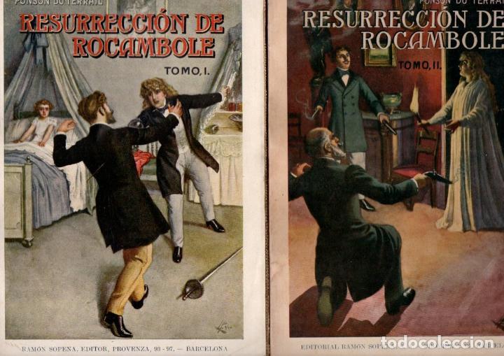 PONSON DU TERRAIL : RESURRECCIÓN DE ROCAMBOLE - DOS TOMOS (SOPENA, 1935) (Libros antiguos (hasta 1936), raros y curiosos - Literatura - Terror, Misterio y Policíaco)