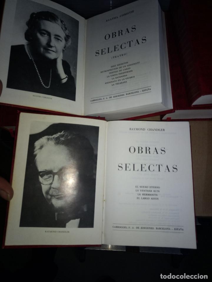 Libros antiguos: Obras selectas LOTE 9 TOMOS Ed Carroggio. Novela policíaca. Género negro. - Foto 2 - 142821570