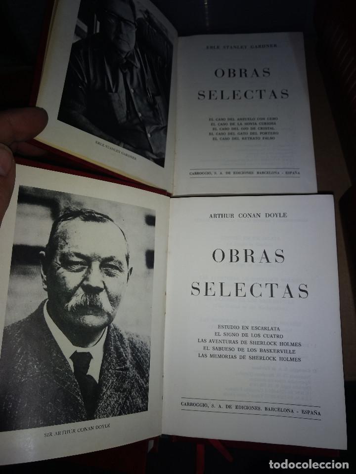 Libros antiguos: Obras selectas LOTE 9 TOMOS Ed Carroggio. Novela policíaca. Género negro. - Foto 3 - 142821570