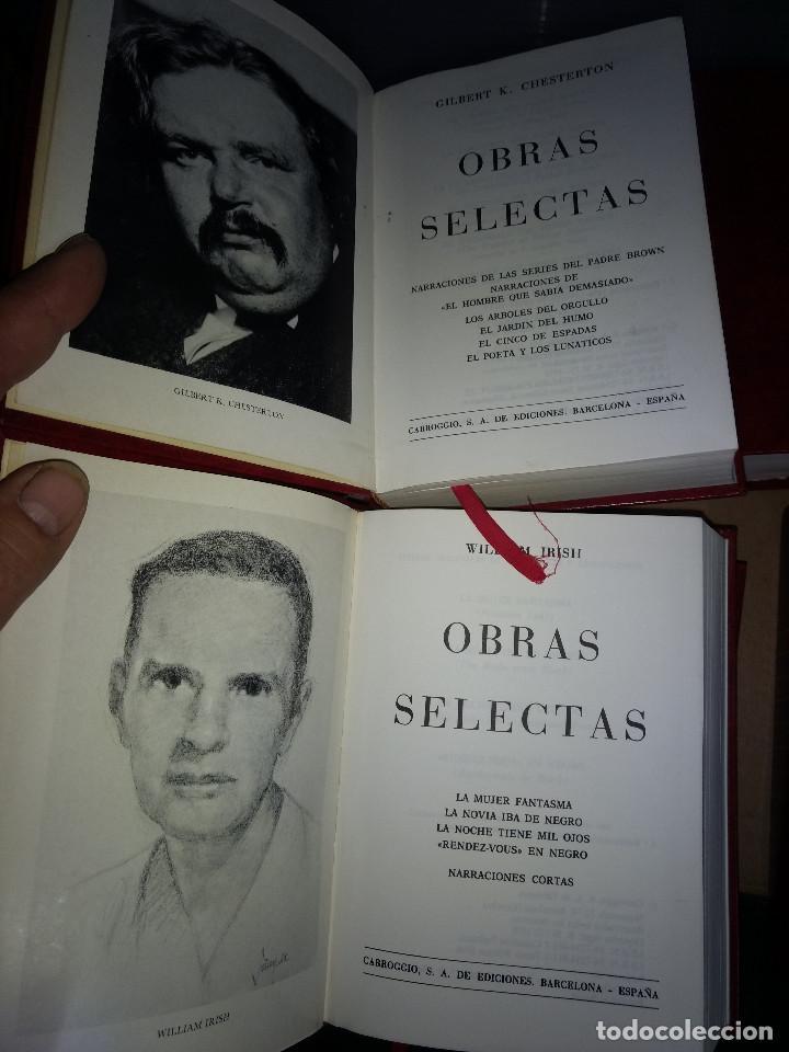 Libros antiguos: Obras selectas LOTE 9 TOMOS Ed Carroggio. Novela policíaca. Género negro. - Foto 4 - 142821570