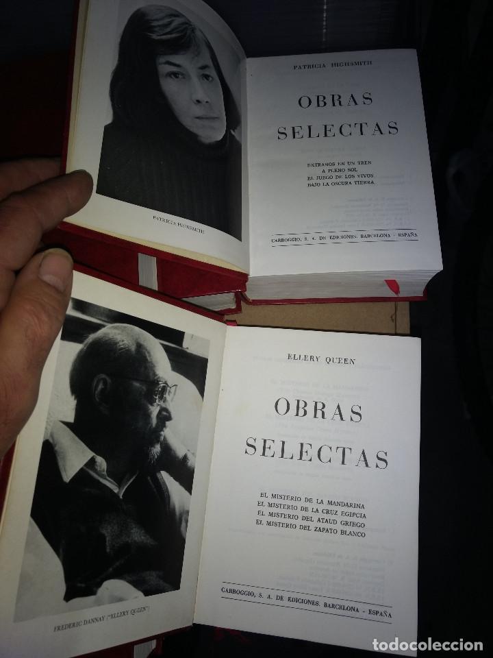 Libros antiguos: Obras selectas LOTE 9 TOMOS Ed Carroggio. Novela policíaca. Género negro. - Foto 10 - 142821570