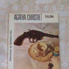 Libros antiguos: VENDO NOVELA DE AGATHA CHRISTIE (TELÓN). EL ÚLTIMO CASO DE POIROT. (VER 2ª FOTO EN EL INTERIOR).. Lote 143165266