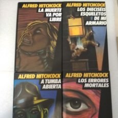 Libros antiguos: 4 NOVELAS ALFRED HITCHCOCK. RECOPILACIÓN VARIOS AUTORES.. Lote 145018326