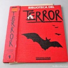 Libros antiguos: TAPA DE BIBLIOTECA DEL TERROR. TOMO 1, VER FOTO PARA ESTADO.. Lote 145664898