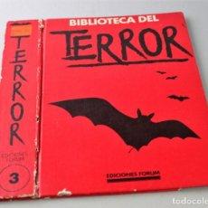 Libros antiguos: TAPA DE BIBLIOTECA DEL TERROR. TOMO 3, VER FOTO PARA ESTADO.. Lote 145665034