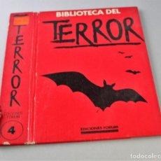Libros antiguos: TAPA DE BIBLIOTECA DEL TERROR. TOMO 4, VER FOTO PARA ESTADO.. Lote 145665082