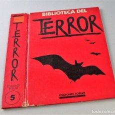 Libros antiguos: TAPA DE BIBLIOTECA DEL TERROR. TOMO 5, VER FOTO PARA ESTADO.. Lote 145665138
