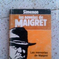 Libros antiguos: LIBRO LAS NOVELAS DE MAIGRET POR ,SIMEON ,156 PAGINAS . Lote 147495554