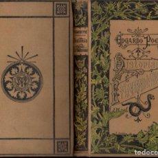 Libros antiguos: EDGARDO POE : HISTORIAS EXTRAORDINARIAS (ARTE Y LETRAS MAUCCI, S.F.) PRÓLOGO DE BAUDELAIRE. Lote 148817546