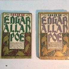 Libros antiguos: OBRAS DE EDGAR ALLAN POE (2 LIBROS). Lote 151076030