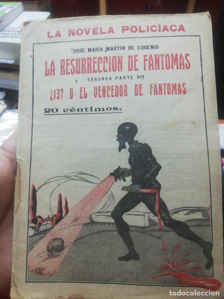 JOSE MARIA MARTIN DE EUGENIO. LA RESURRECCION DE FANTOMAS Y ¿13? O EL VENCEDOR DE FANTOMAS (Libros antiguos (hasta 1936), raros y curiosos - Literatura - Terror, Misterio y Policíaco)