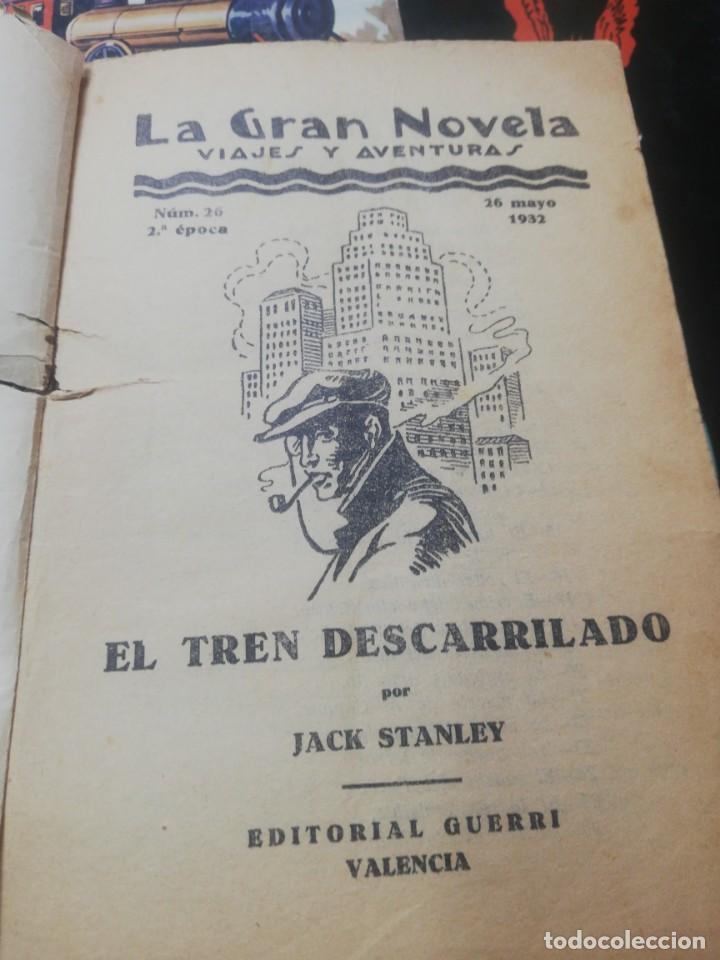 Libros antiguos: Jack Stanley. - El tren descarrilado. La gran novela. Editorial guerri - Foto 3 - 154820030