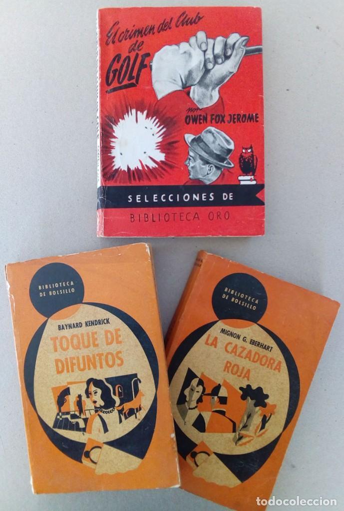 LOTE DE 3 LIBROS DE SUSPENSE AÑOS 50. (Libros antiguos (hasta 1936), raros y curiosos - Literatura - Terror, Misterio y Policíaco)