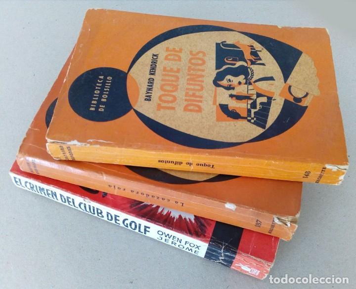 Libros antiguos: LOTE DE 3 LIBROS DE SUSPENSE AÑOS 50. - Foto 2 - 155254394