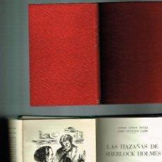 Libros antiguos: TRES LIBROS SHERLOCK HOLMES UN CRIMEN EXTRAÑO CONAN DOYLE THREE STORIES HAZAÑAS . Lote 155387554