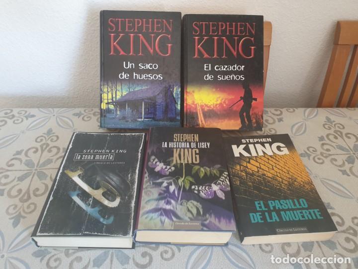 LOTE 5 LIBROS STEPHEN KING (Libros antiguos (hasta 1936), raros y curiosos - Literatura - Terror, Misterio y Policíaco)