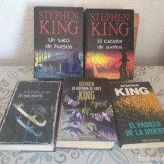 Libros antiguos: LOTE 5 LIBROS STEPHEN KING. Lote 155464426