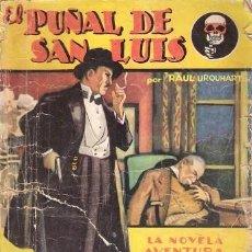 Libros antiguos: EL PUÑAL DE SAN LUIS. PAUL URQUHART. SEXTON BLAKE. HYMSA. LA NOVELA AVENTURA Nº 94. 1935.. Lote 156703210
