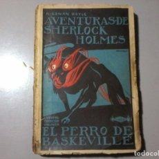 Libros antiguos: ARTHUR CONAN DOYLE. EL PERRO DE BASKERVILLE. 1ª ED. PENAGOS. SHERLOCK HOLMES.RARO. Lote 161944458