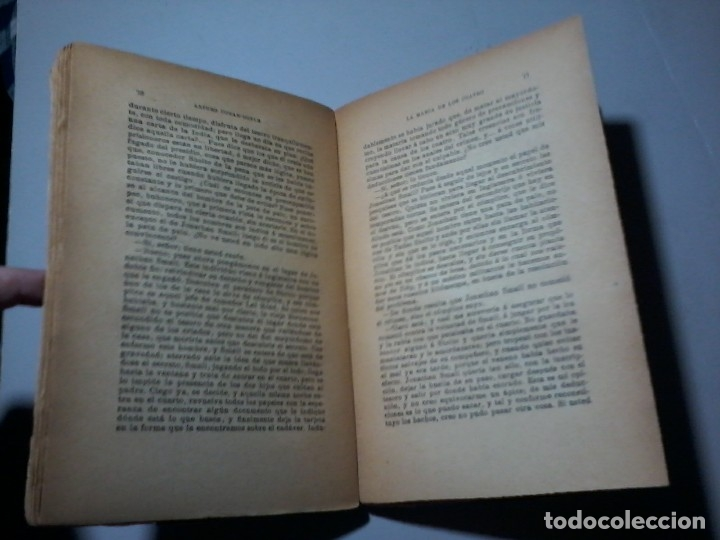 Libros antiguos: ARTHUR CONAN DOYLE. SHERLOCK HOLMES. LA MARCA DE LOS CUATRO. 1ª EDICIÓN. PORTADA: PENAGOS. RARO. - Foto 4 - 163258910