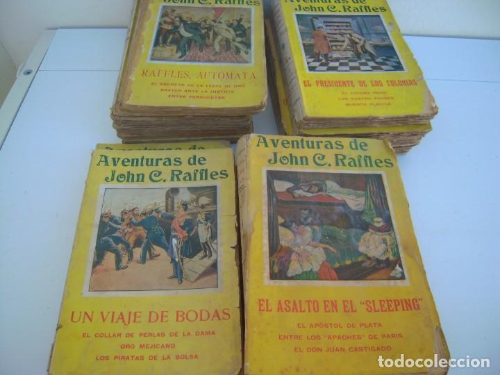 LOTE DE 14 DE AVENTURAS DE JOHN C. RAFFLES (Libros antiguos (hasta 1936), raros y curiosos - Literatura - Terror, Misterio y Policíaco)