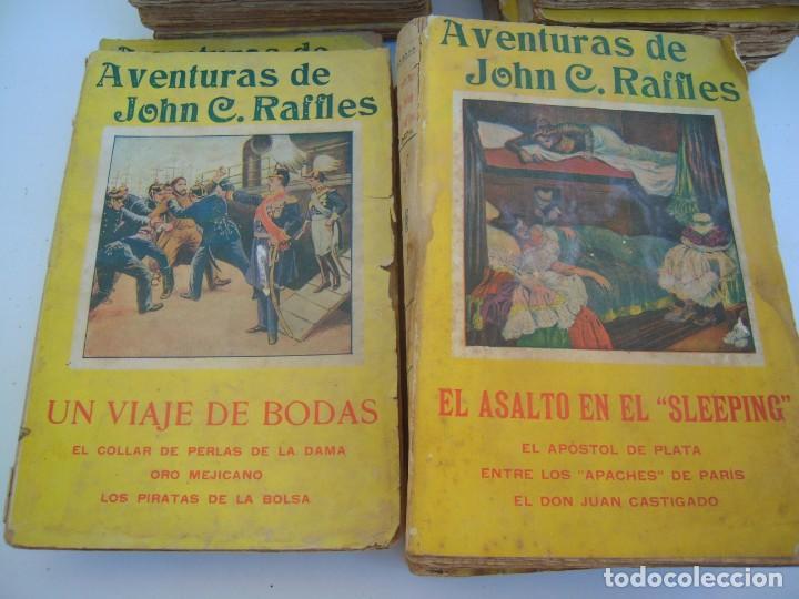 Libros antiguos: lote de 14 de aventuras de john c. raffles - Foto 3 - 165879938