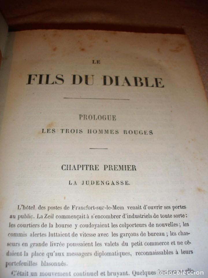 Libros antiguos: Oeuvres choisies de Paul Feval, Le Fils Du Diable - Foto 5 - 166057502